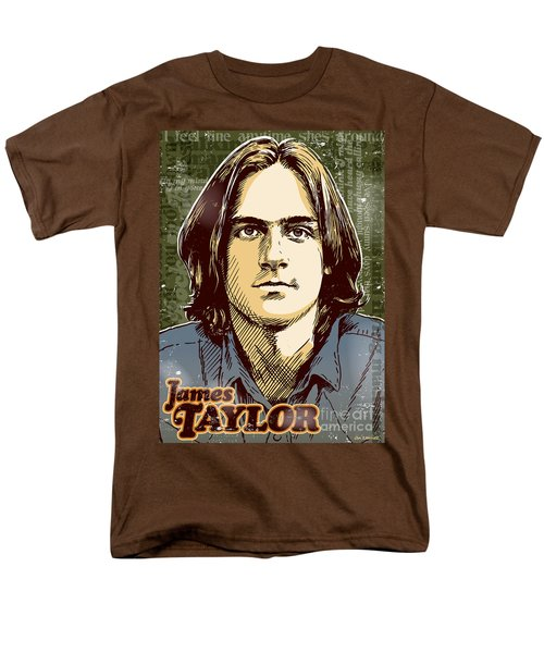 James Taylor Pop Art Men's T-Shirt  (Regular Fit) by Jim Zahniser