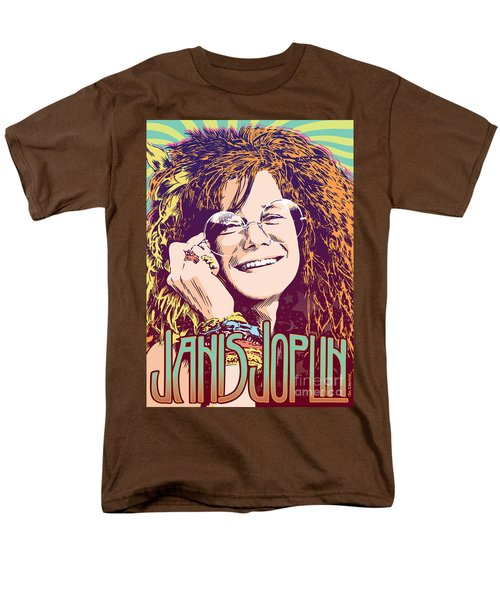 Janis Joplin Pop Art Men's T-Shirt  (Regular Fit) by Jim Zahniser