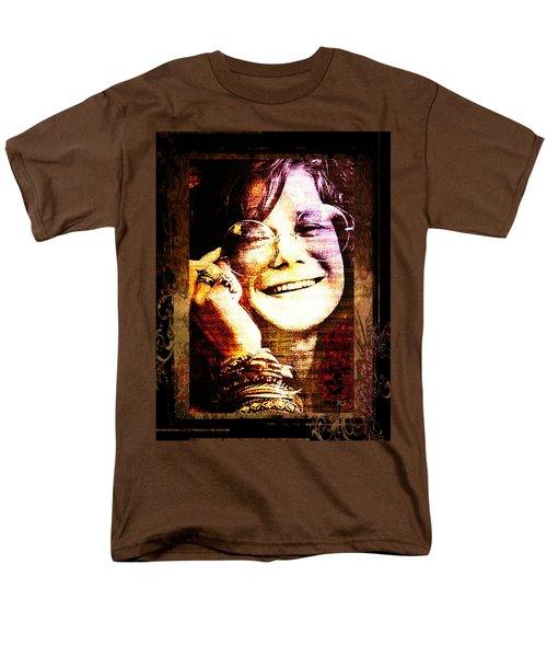 Janis Joplin - Upclose Men's T-Shirt  (Regular Fit) by Absinthe Art By Michelle LeAnn Scott