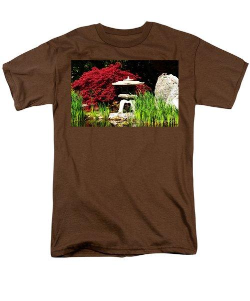 Men's T-Shirt  (Regular Fit) featuring the photograph Japanese Garden by Angela DeFrias