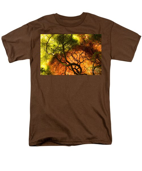 Men's T-Shirt  (Regular Fit) featuring the photograph Japanese Maples by Angela DeFrias