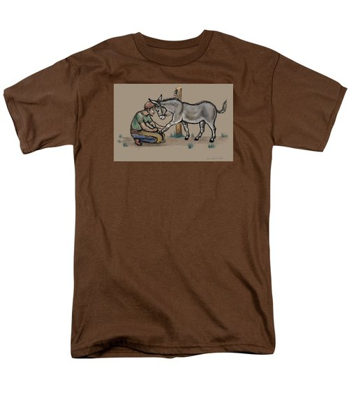 Jasper Warms Up To The Farrier Men's T-Shirt  (Regular Fit) by Dawn Senior-Trask