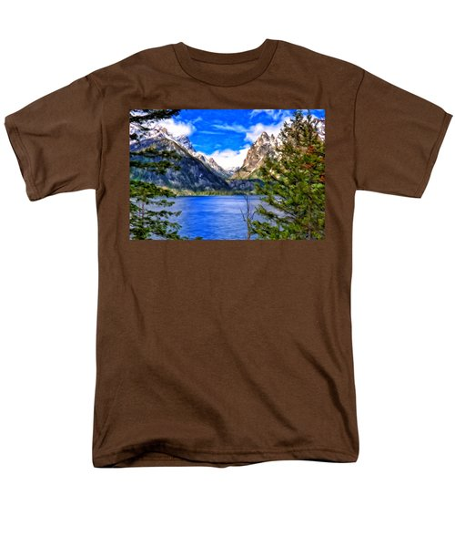 Jenny Lake Men's T-Shirt  (Regular Fit) by Michael Pickett