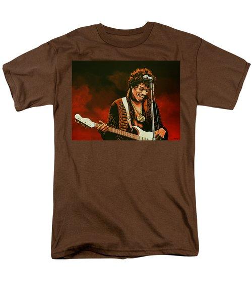 Jimi Hendrix Painting Men's T-Shirt  (Regular Fit) by Paul Meijering