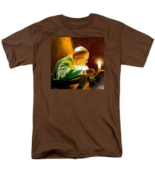 Men's T-Shirt  (Regular Fit) featuring the painting John Paul II by Henryk Gorecki