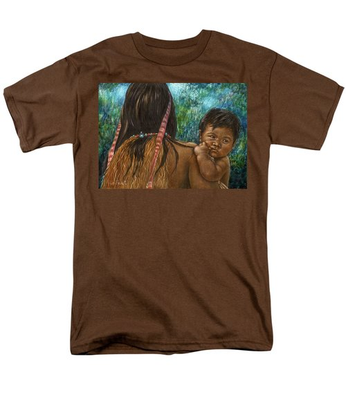Men's T-Shirt  (Regular Fit) featuring the drawing Jungle Family by Sandra LaFaut