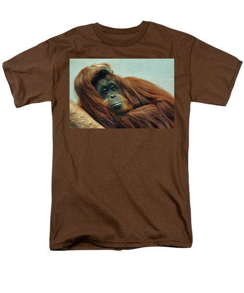 Men's T-Shirt  (Regular Fit) featuring the photograph Just Hanging Around by Jean Goodwin Brooks