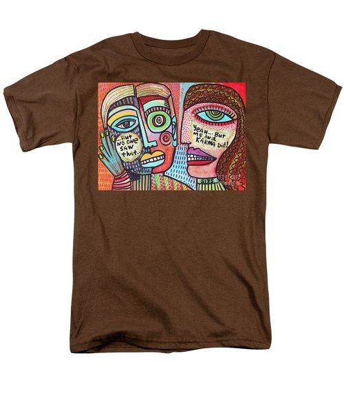 Karma Saw It' Men's T-Shirt  (Regular Fit) by Sandra Silberzweig