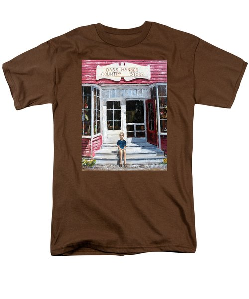 Men's T-Shirt  (Regular Fit) featuring the painting Katie At Bass Harbor Maine by Lee Piper