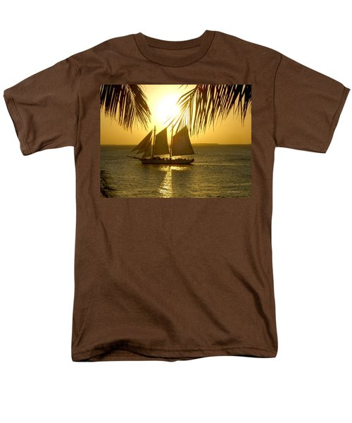 Men's T-Shirt  (Regular Fit) featuring the photograph Key West Sunset by Joan  Minchak