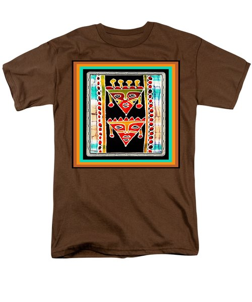 Men's T-Shirt  (Regular Fit) featuring the digital art King And Queen by Vagabond Folk Art - Virginia Vivier
