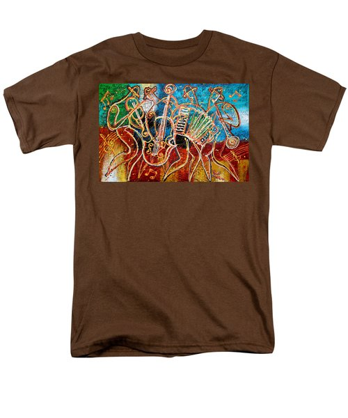 Klezmer Music Band Men's T-Shirt  (Regular Fit) by Leon Zernitsky