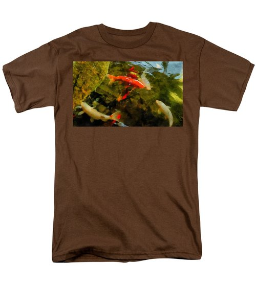 Koi Pond Men's T-Shirt  (Regular Fit) by Michelle Calkins