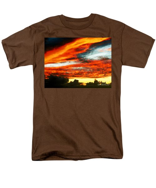 Men's T-Shirt  (Regular Fit) featuring the photograph Kona Sunset 77 Lava In The Sky  by David Lawson