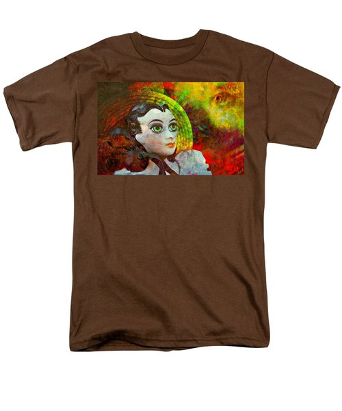 Men's T-Shirt  (Regular Fit) featuring the mixed media Lady In Red by Ally  White