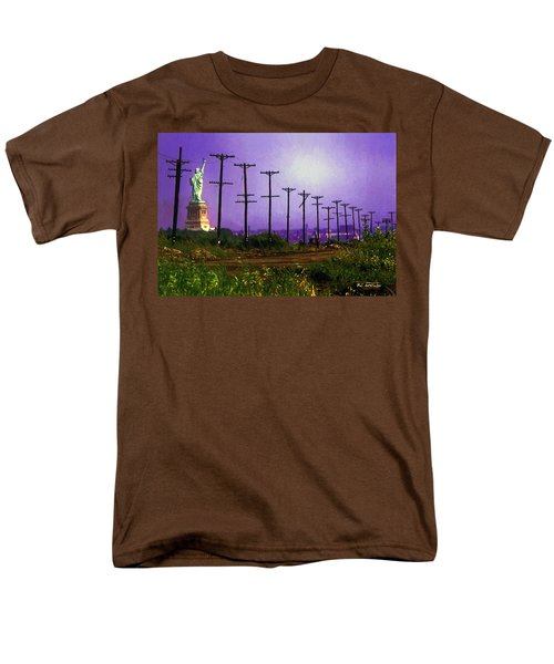 Lady Liberty Lost Men's T-Shirt  (Regular Fit) by RC deWinter