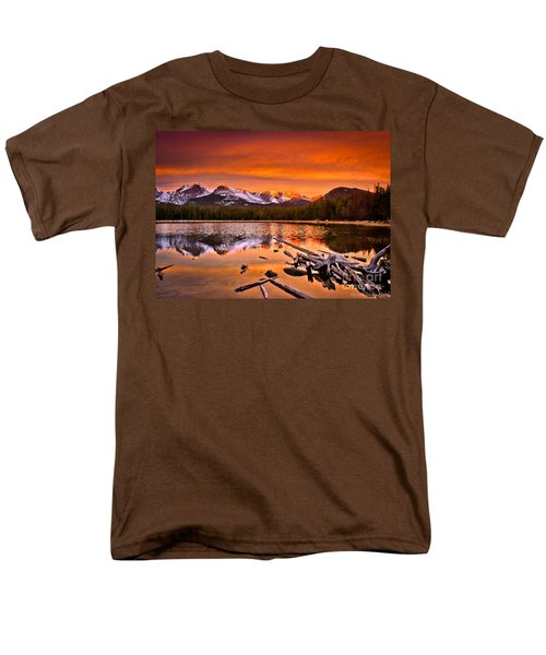 Lake Bierstadt In The Morn Men's T-Shirt  (Regular Fit) by Steven Reed