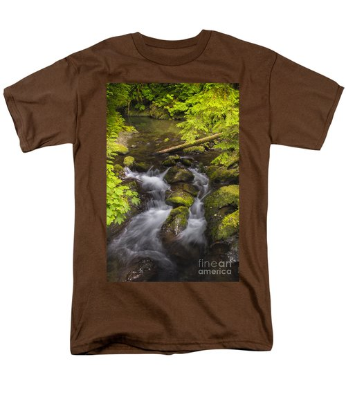 Lake Quinault Creek 2 Men's T-Shirt  (Regular Fit) by Sonya Lang