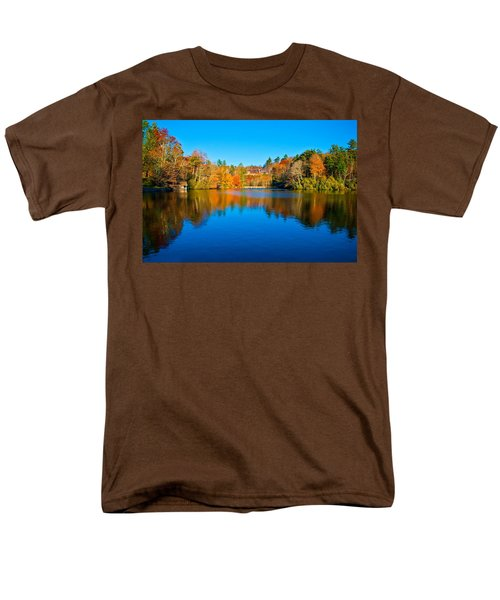 Men's T-Shirt  (Regular Fit) featuring the photograph Lake Reflections by Alex Grichenko