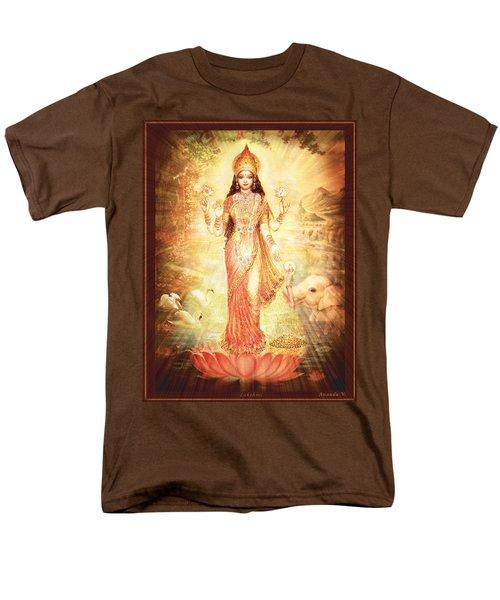 Lakshmi Goddess Of Fortune Vintage Men's T-Shirt  (Regular Fit) by Ananda Vdovic