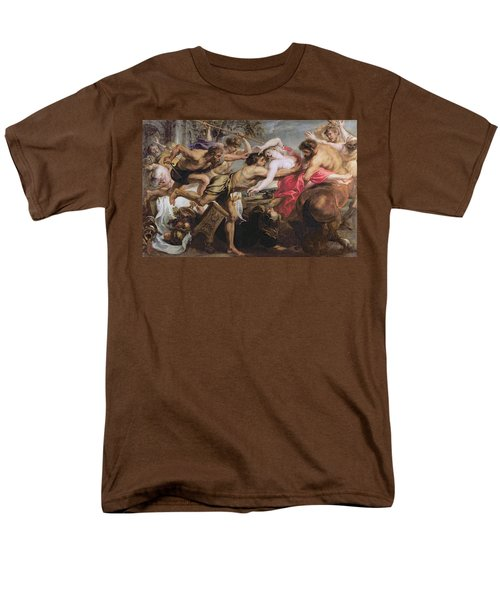 Lapiths And Centaurs Oil On Canvas Men's T-Shirt  (Regular Fit) by Peter Paul Rubens