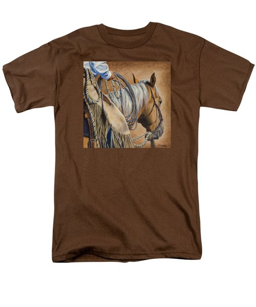 Lariat And Leather Men's T-Shirt  (Regular Fit) by Kim Lockman
