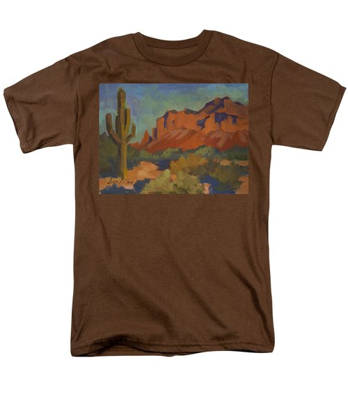 Late Afternoon Light At Superstition Mountain Men's T-Shirt  (Regular Fit) by Diane McClary