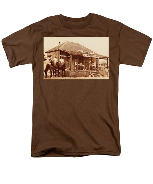 Law West Of The Pecos Men's T-Shirt  (Regular Fit) by Pg Reproductions