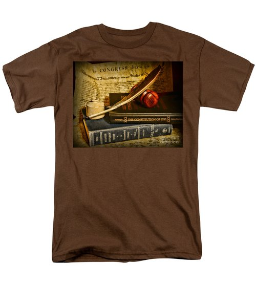 Lawyer - The Constitutional Lawyer Men's T-Shirt  (Regular Fit) by Paul Ward