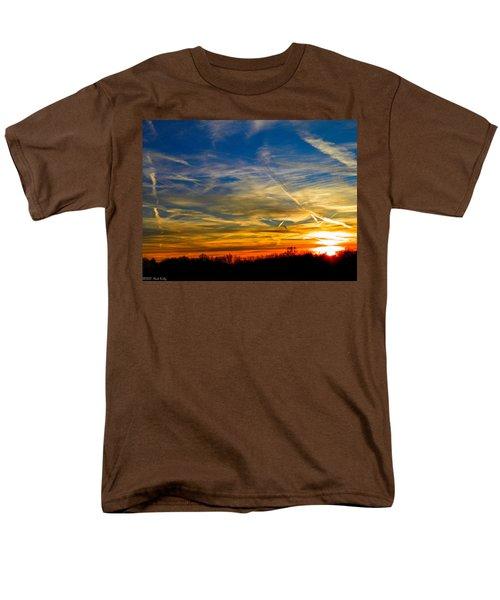 Leavin On A Jetplane Sunset Men's T-Shirt  (Regular Fit) by Nick Kirby