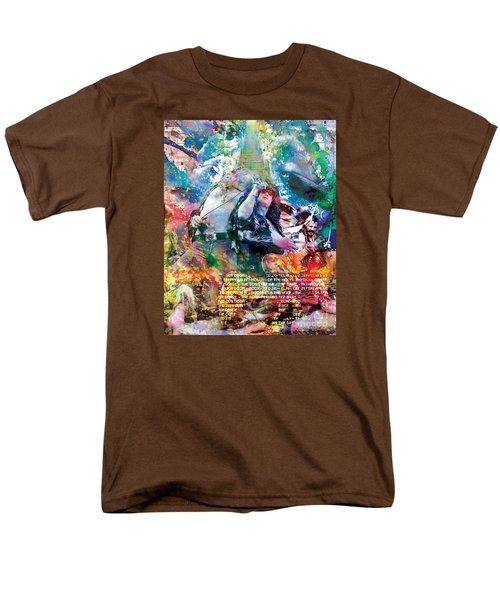 Led Zeppelin Original Painting Print  Men's T-Shirt  (Regular Fit) by Ryan Rock Artist