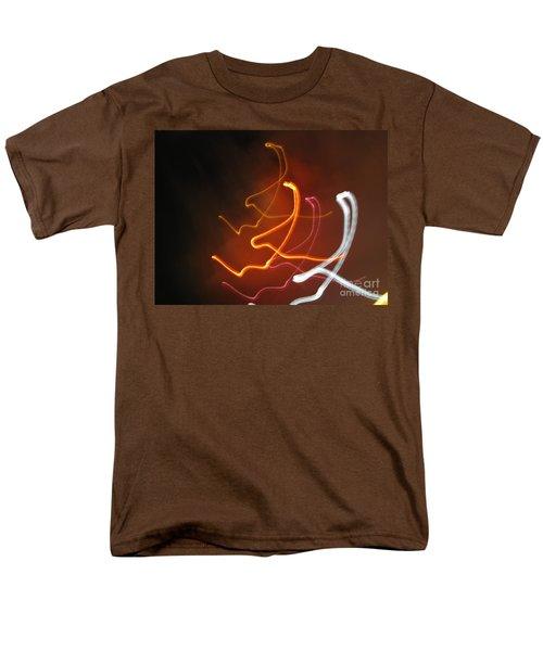 Men's T-Shirt  (Regular Fit) featuring the photograph Light Drawing. I..i..i... Dancing Lights Series by Ausra Huntington nee Paulauskaite