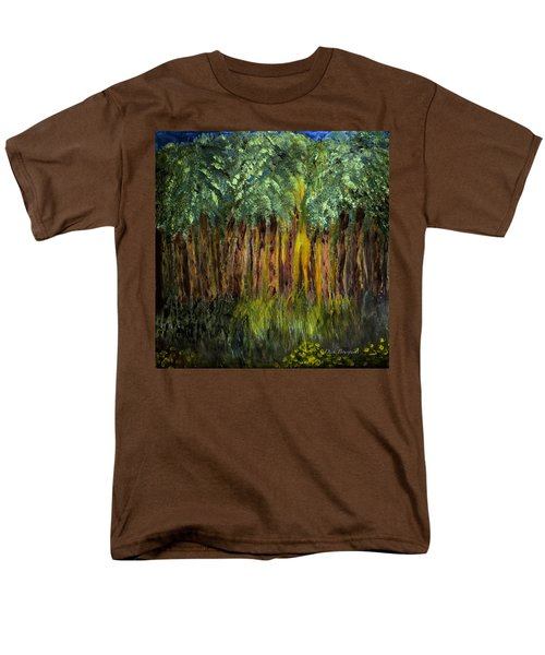 Light In The Forest Men's T-Shirt  (Regular Fit) by Dick Bourgault
