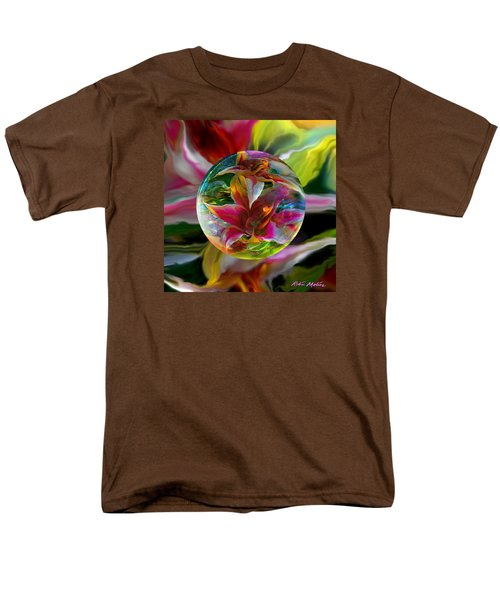 Men's T-Shirt  (Regular Fit) featuring the painting Lillium Bulbiferum by Robin Moline