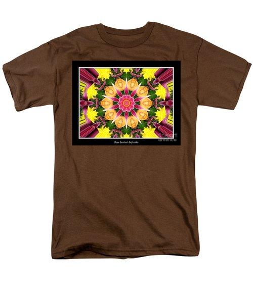 Men's T-Shirt  (Regular Fit) featuring the photograph Lily And Chrysanthemums Flower Kaleidoscope by Rose Santuci-Sofranko