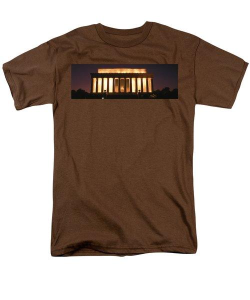 Lincoln Memorial Washington Dc Usa Men's T-Shirt  (Regular Fit) by Panoramic Images
