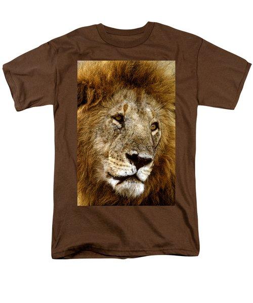 Lion 01 Men's T-Shirt  (Regular Fit) by Wally Hampton