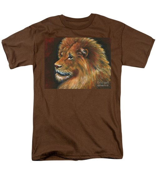 Men's T-Shirt  (Regular Fit) featuring the painting Lion by Alga Washington