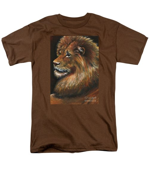 Men's T-Shirt  (Regular Fit) featuring the painting Lion Portrait by Alga Washington