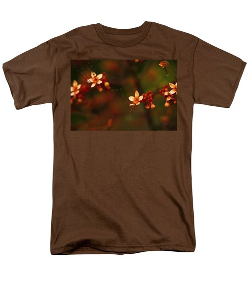 Little Red Flowers Men's T-Shirt  (Regular Fit) by Bradley R Youngberg