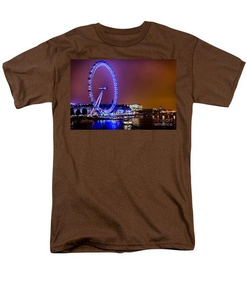 Men's T-Shirt  (Regular Fit) featuring the photograph London Eye Night Glow by Matt Malloy