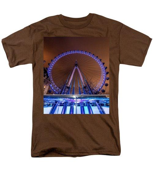 Men's T-Shirt  (Regular Fit) featuring the photograph London Eye Supports by Matt Malloy