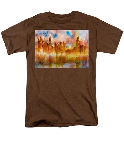 London Rising Men's T-Shirt  (Regular Fit) by Debbie Lewis