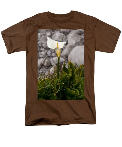 Lone Calla Lily Men's T-Shirt  (Regular Fit) by Melinda Ledsome