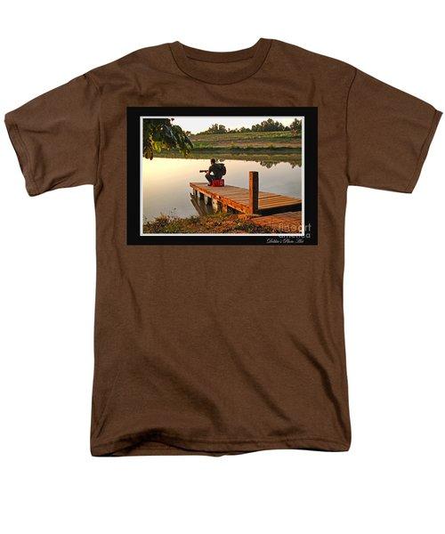 Lonely Guitarist Men's T-Shirt  (Regular Fit) by Debbie Portwood