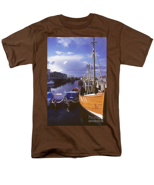 Men's T-Shirt  (Regular Fit) featuring the photograph Lossiemouth Harbour - Scotland by Phil Banks
