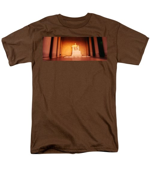 Low Angle View Of A Statue Of Abraham Men's T-Shirt  (Regular Fit) by Panoramic Images