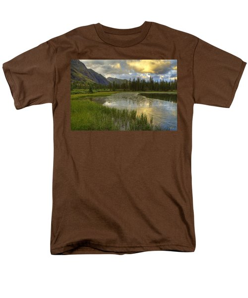 Lower Ice Lake Men's T-Shirt  (Regular Fit) by Alan Vance Ley
