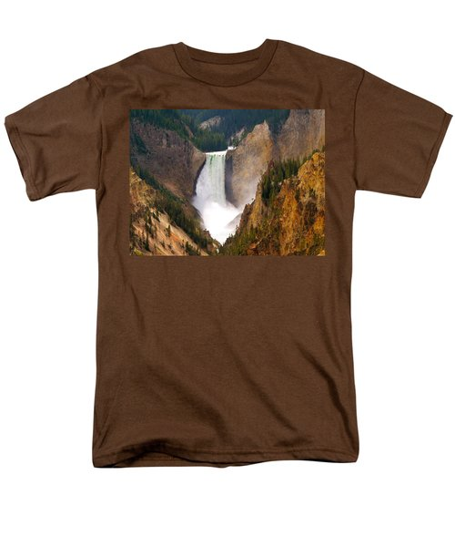 Men's T-Shirt  (Regular Fit) featuring the photograph Lower Yellowstone Falls by Eric Tressler
