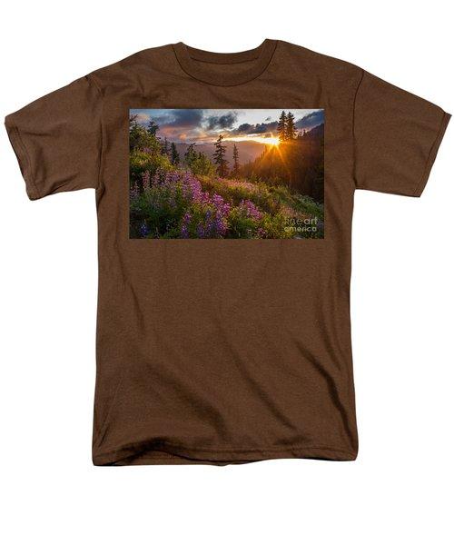 Lupine Meadows Sunstar Men's T-Shirt  (Regular Fit) by Mike Reid